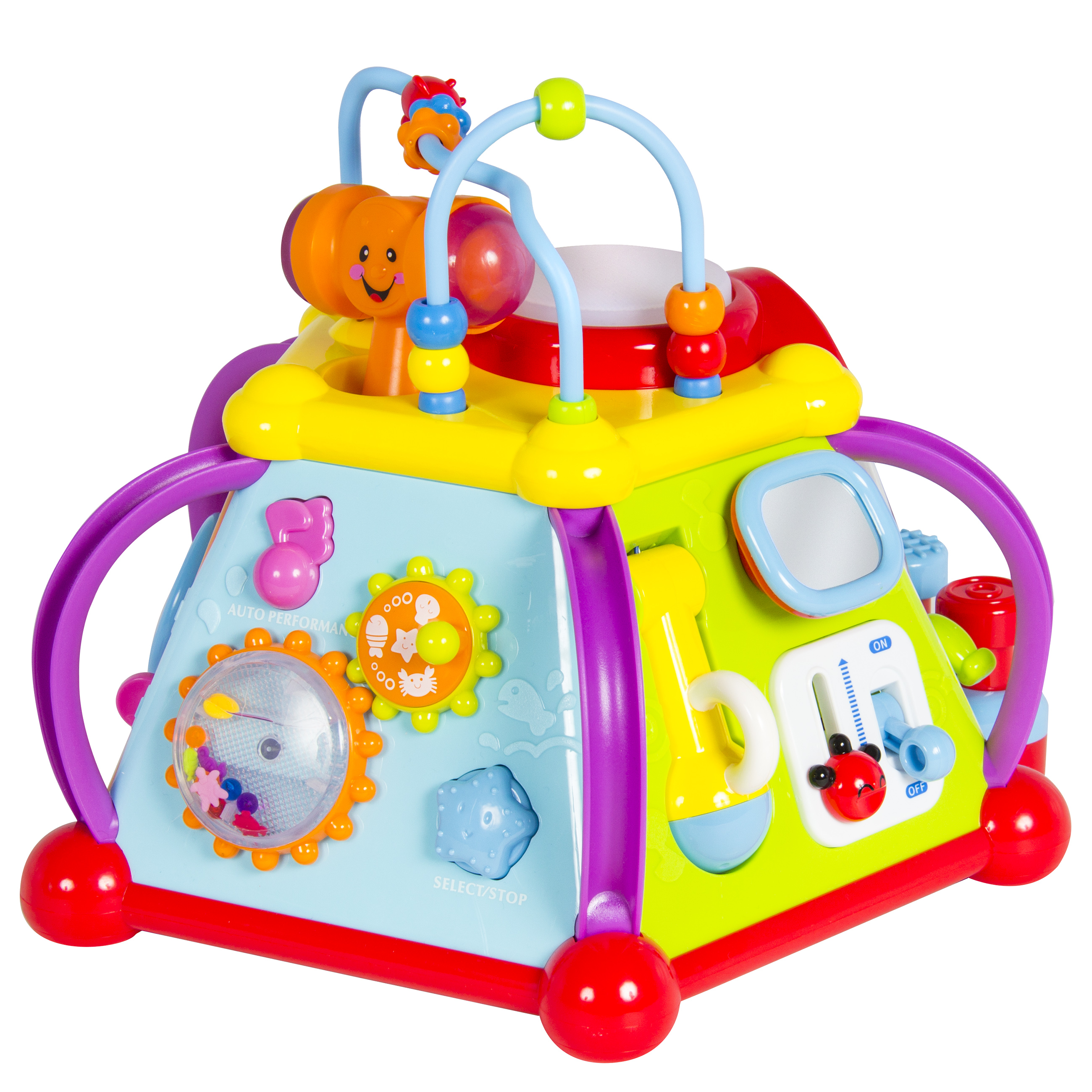 6210f7227195 Best Choice Products Kids Toddlers Musical Activity Cube Play Toy w  15  Functions