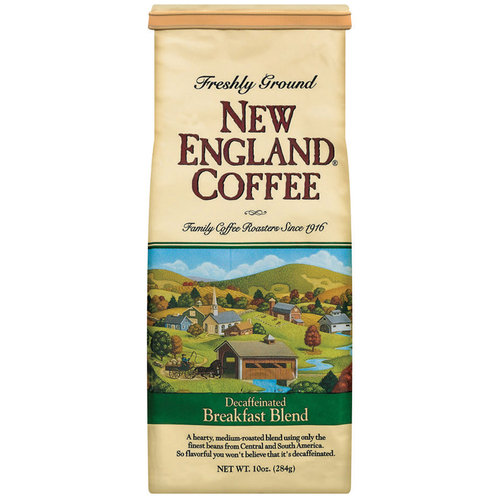 New England Coffee 100% Arabica Breakfast Blend Decaffeinated Coffee, 10 oz