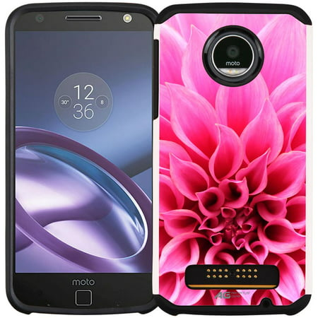 Moto Z Play Droid Case - Armatus Gear (TM) Slim Hybrid Armor Case Protective Cover for Motorola Moto Z Play Droid (XT1635) Verizon Wireless Natural Gear Hybrid