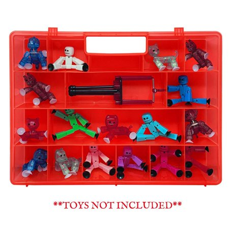 - Life Made Better Toy Case, Sturdy & Reinforced Red Mini Figure Toy Storage Case, Compatible with Stickbots, not Created by Stickbots