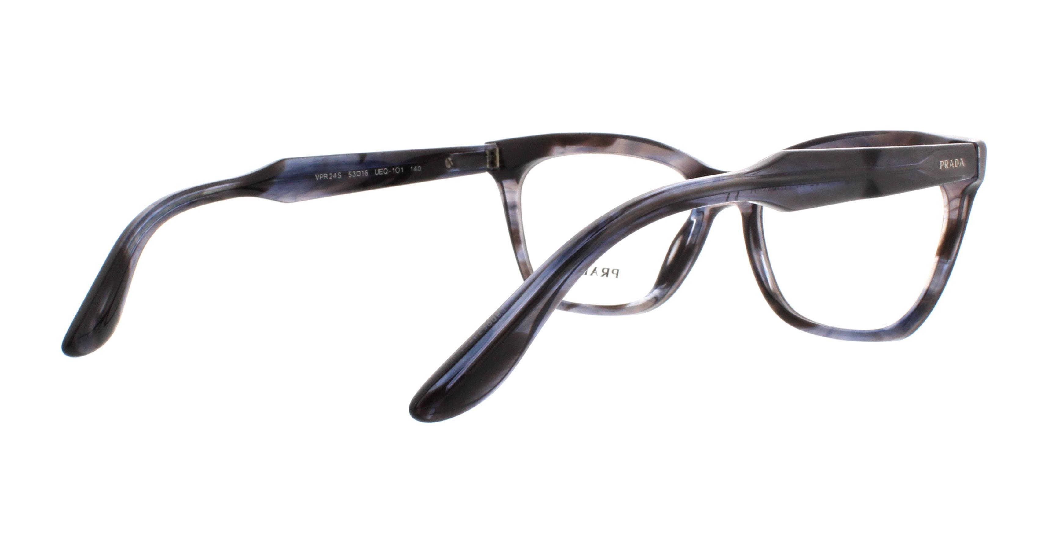 d3ecad8fc5 PRADA Eyeglasses PR24SV UEQ1O1 Striped Violet 53MM - Walmart.com