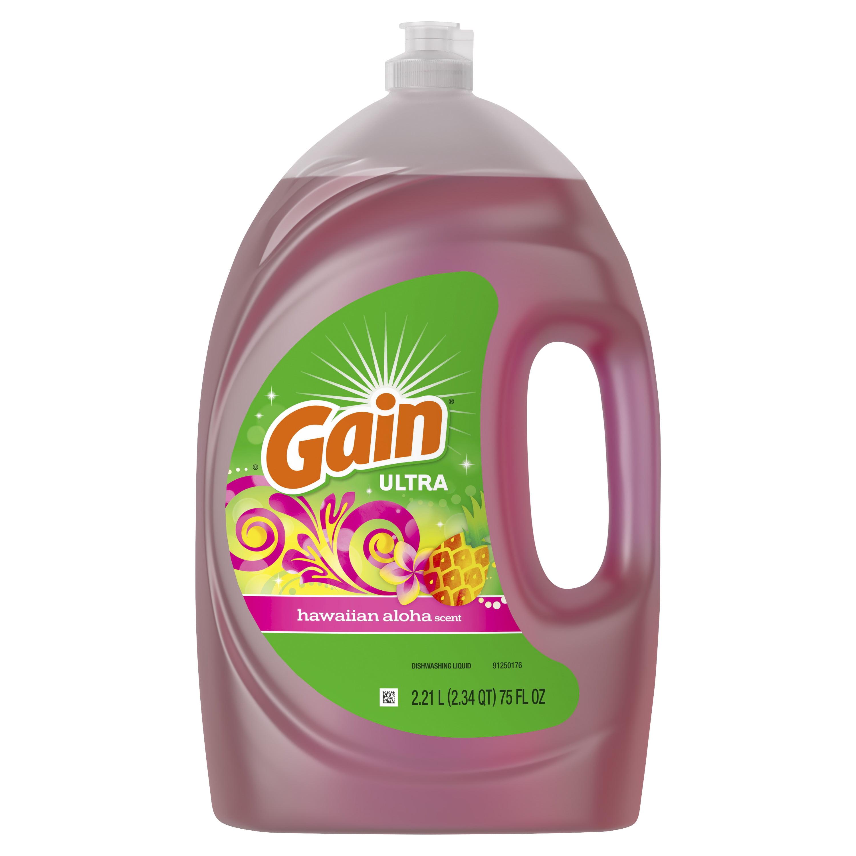 Gain Ultra Dishwashing Liquid Dish Soap, Hawaiian Aloha, 75 fl oz