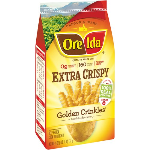 Ore-Ida Extra Crispy Golden Crinkles French Fried Potatoes, 26 oz