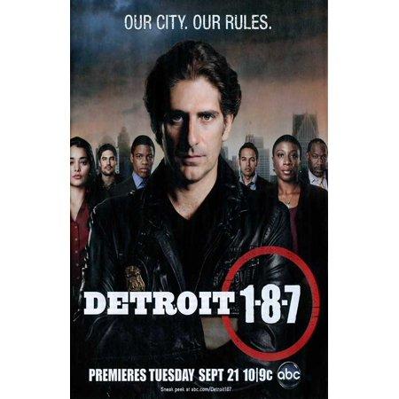 Detroit 1-8-7 (2010) 11x17 TV Poster (Bleu Detroit Halloween)