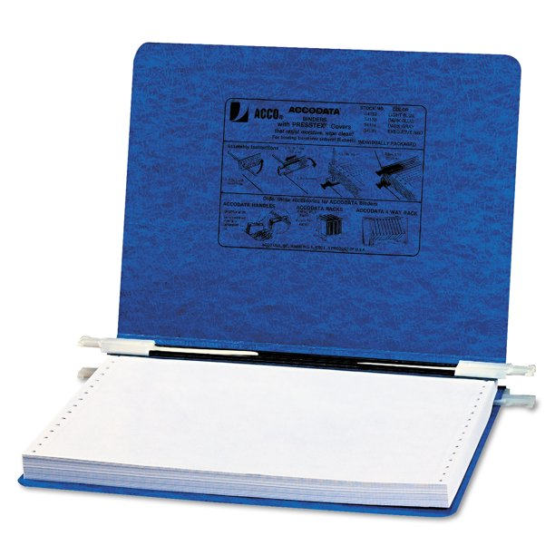 "Acco 36251 8 1 2 X 11 Frosted Plastic Side Bound Report: ACCO PRESSTEX Covers W/Storage Hooks, 6"" Cap, 12 X 8 1/2"
