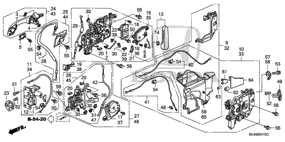 Honda 72650 Shj A01 Manual Sliding Door Latch Assembly Honda Odyssey Walmart Com Walmart Com