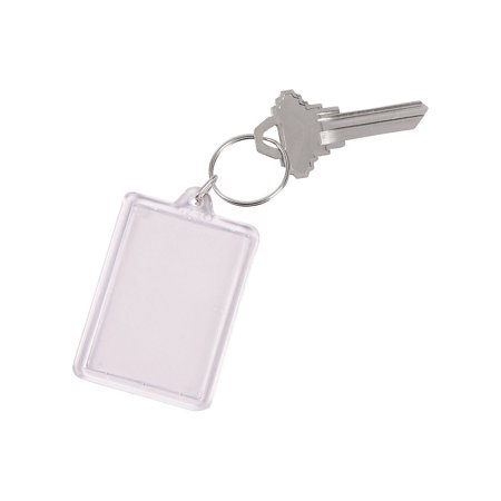 Fun Express - Clear Plastic Keychain for Party - Apparel Accessories - Key Chains - Novelty Key Chains - Party - 12 Pieces (Clear Plastic Keychains)