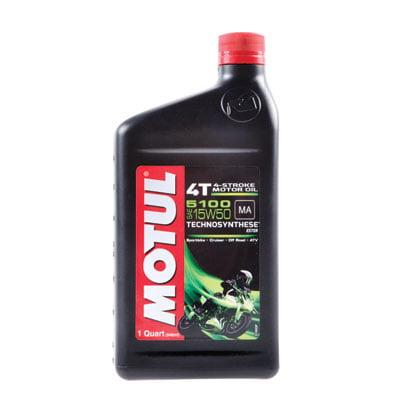 Motul 5100 Synthetic Blend 4-Stroke Motor Oil 15W-50 1 Liter