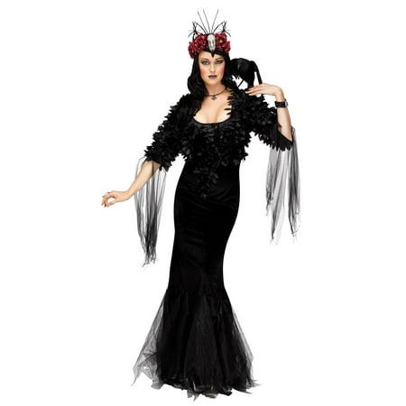 7707c66a76f Sexy Raven Mistress Costume Womens Halloween Black Witch Sorceress ...