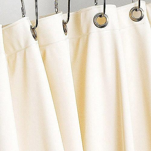 Vinyl Shower Curtain Liner, Cream