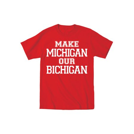 Make Michigan Our Bichigan Beat Michigan Funny Football Collectible Mens - Beats Mens T-shirt