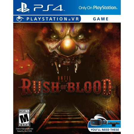 Until Dawn Rush Of Blood - Pre-Owned (PS4) (Horizon Zero Dawn Pre Order Bonus Amazon)