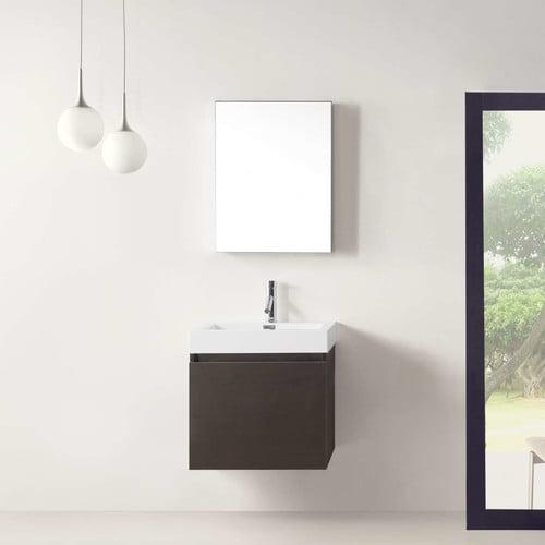 Virtu Zuri 22'' Single Bathroom Vanity Set with Mirror