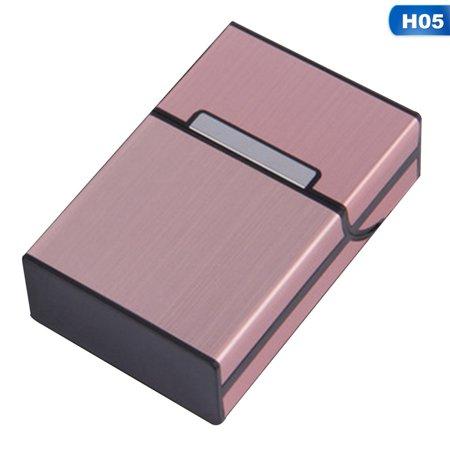 Raypadula Metal Cigar Cigarette Case Aluminum Tobacco Holder Storage Container Pocket Box Cigarettes Tobacco Cigars