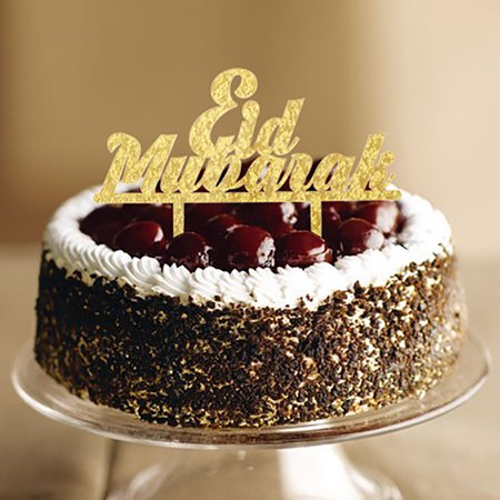 Features:1. Happy Ramadan Eid Mubarak Cake Topper Glitter Cake Topper Hajj Mubarak Cake Decor2. Complete with food safe skewer/s, ready to put straight into your cake.3. Ensuring its perfect for yo - image 5 de 6