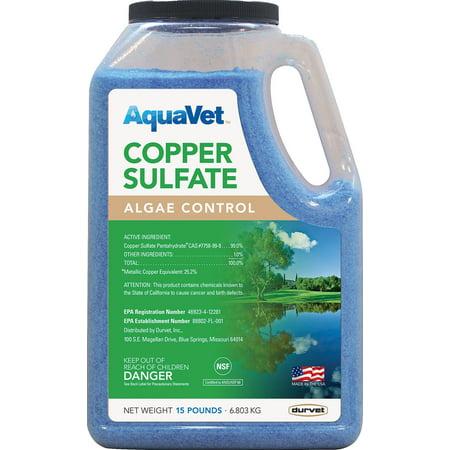 Copper Sulfate Algae (Durvet Aquavet D-Aquavet Copper Sulfate Algae Control 15 Pound )