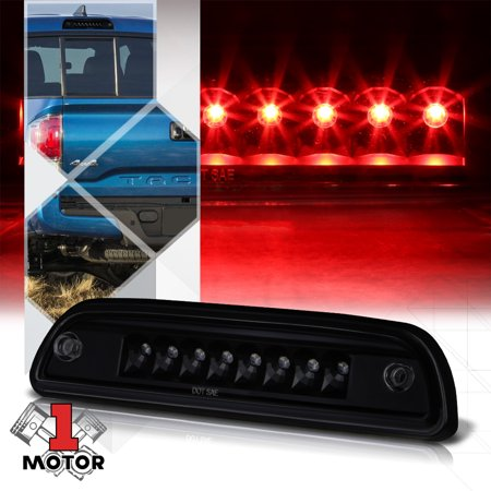 Black Housing Smoke Lens Rear LED Third[3rd]Brake Light for 95-17 Toyota Tacoma 96 97 98 99 00 01 02 03 04 05 06 07 08 09 10 11 12 13 14 15 16