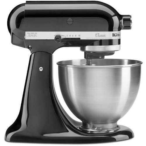 KitchenAid Classic Series 4.5 Quart Tilt Head Stand Mixer, Onyx Black  (K45SSOB)