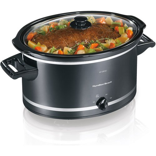 Hamilton Beach 8-Quart Extra-Large Capacity Slow Cooker, Black
