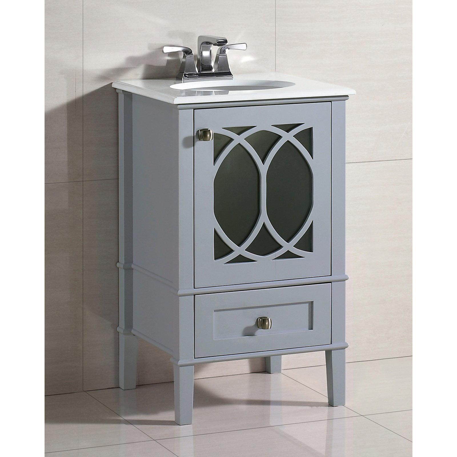 Brooklyn + Max Denning 20 inch Grey Bath Vanity - Walmart.com