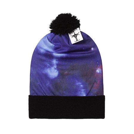 TopHeadwear Sublimation Cuffed Beanie - Galaxy 600 - Long - Black - image 1 de 1
