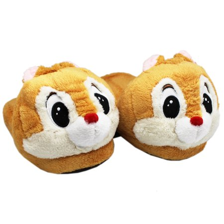 Disney's Chip & Dale Light Brown Dale Plush Slippers (9in)