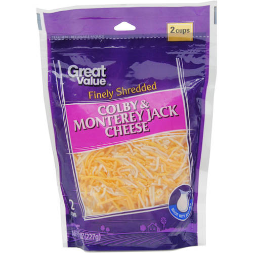 Great Value Finely Shredded Colby & Monterey Jack Cheese, 8 oz