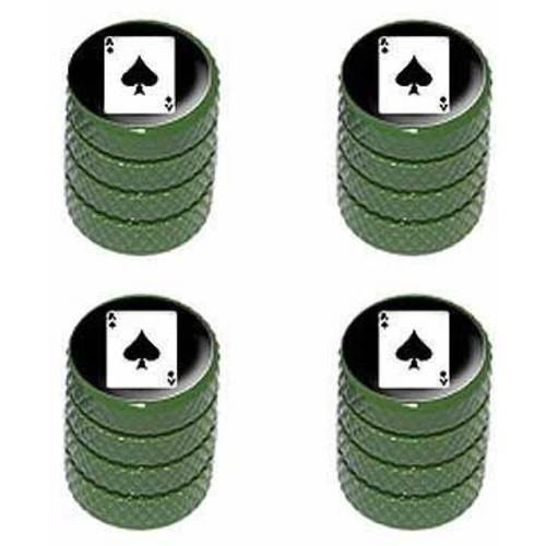 Ace of Spades Wheel Tire Rim Valve Stem Caps Colors Playing Cards