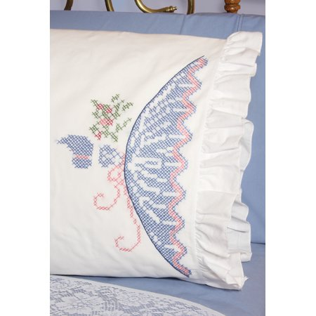 - Fairway Stamped Lace Edge Pillowcase, 30