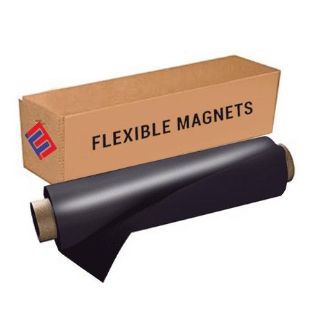 Flexible Vinyl Roll of Magnet Sheets - Black, Super Strong & Ideal for Crafts - Commercial Inkjet Printable ( 2 ft x 50 ft)