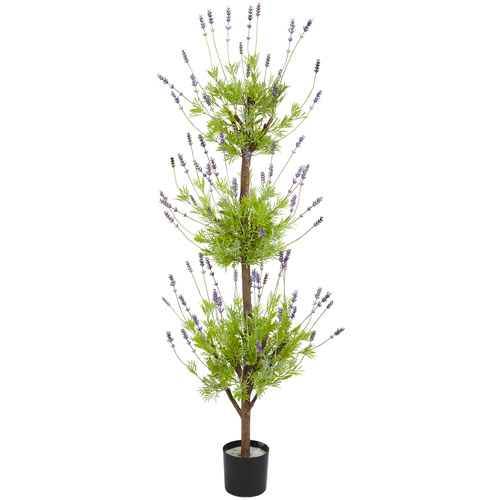 Lavender Topiary Silk Tree