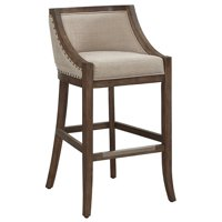 """Bowery Hill 26"""" Stationary Counter Stool in Warm Brown and Light Beige"""