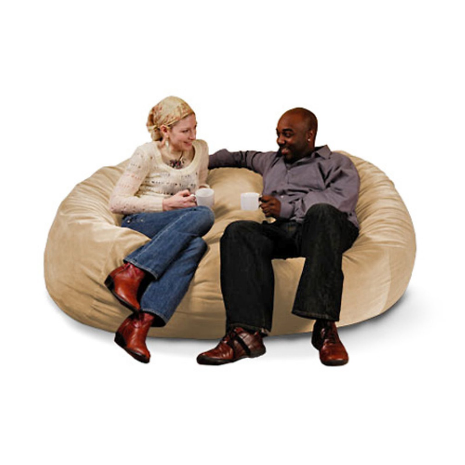 Jaxx 6 ft Lounger Microsuede Medium Foam Sofa