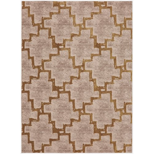 Karastan Cosmopolitan Marais Cream Gold Area Rug by Mohwak Home