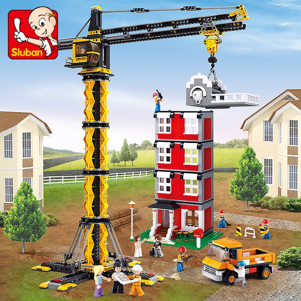 Sluban Building Blocks Engineering Construction Tower Crane Educational Bricks Toy Set... by PENSON & CO.