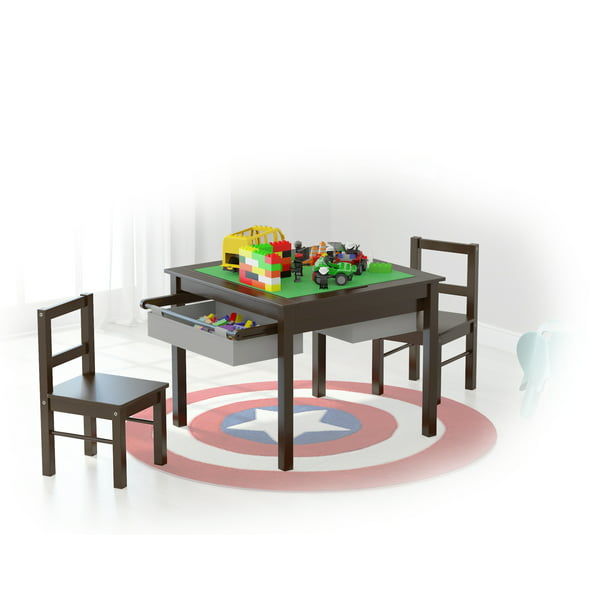 Utex Wooden 2 In 1 Kids Construction, Utex Lego Table With Chairs