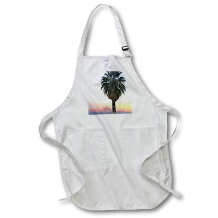 3dRose California fan palm tree, Mormon Mountains, Nevada - US29 SSM0039 - Scott T. Smith, Medium Length Apron, 22 by 24-inch, With Pouch Pockets