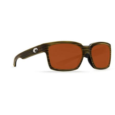 Costa Del Mar Playa Matte Verde Teak Square (Costa Playa Sunglasses)