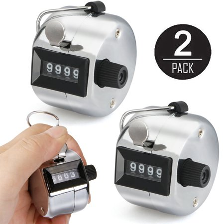 - Golf Counter, EEEKit 2-Pack Portable 4 Digit Number Clicker Finger Ring Tally Golf Counter Hand Held Sport Counting Recorder