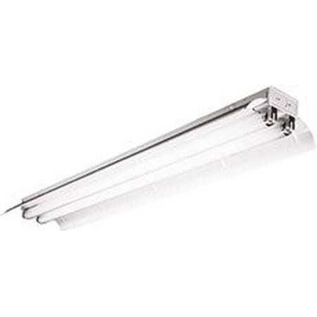 Columbia Lighting Fluorescent Columbia Industrial Lighting Fixture, 8 Ft., Uses 2 T8 Lamps, Solid Reflector, Instant Start