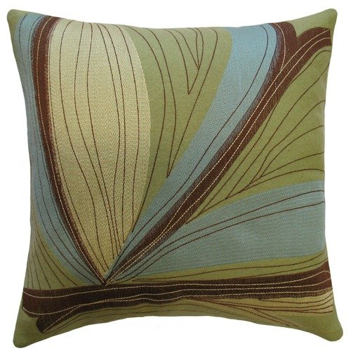 Koko Company Dune 18'' x 18'' Embroidered Pillow with Old Adobe Appliqu