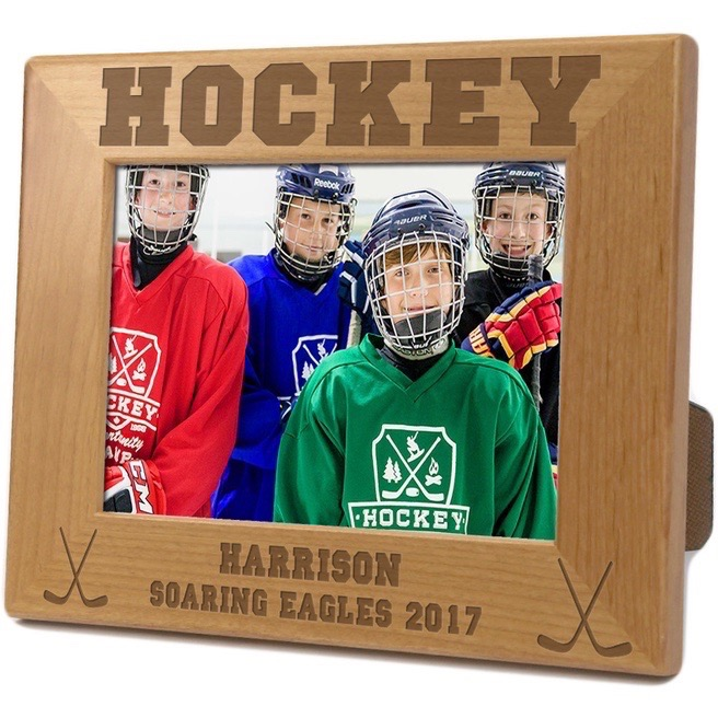 Hockey Personalized Wood Picture Frame