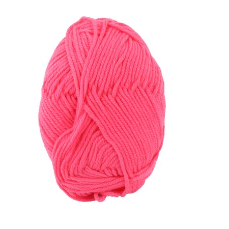 Hot Pink Gloves (Home Fiber Handmade Crochet Socks Gloves Sweater Knitting Yarn Cord Hot Pink)