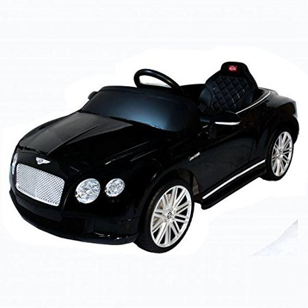 Licensed Bentley Continental Gt Kids Ride On Toy Car W Remote Control Black