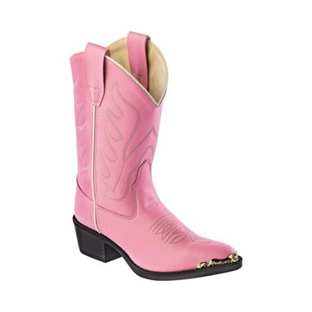 Little Girls Cowboy Boots (Children's Old West All Over Man Made J Toe Cowboy)
