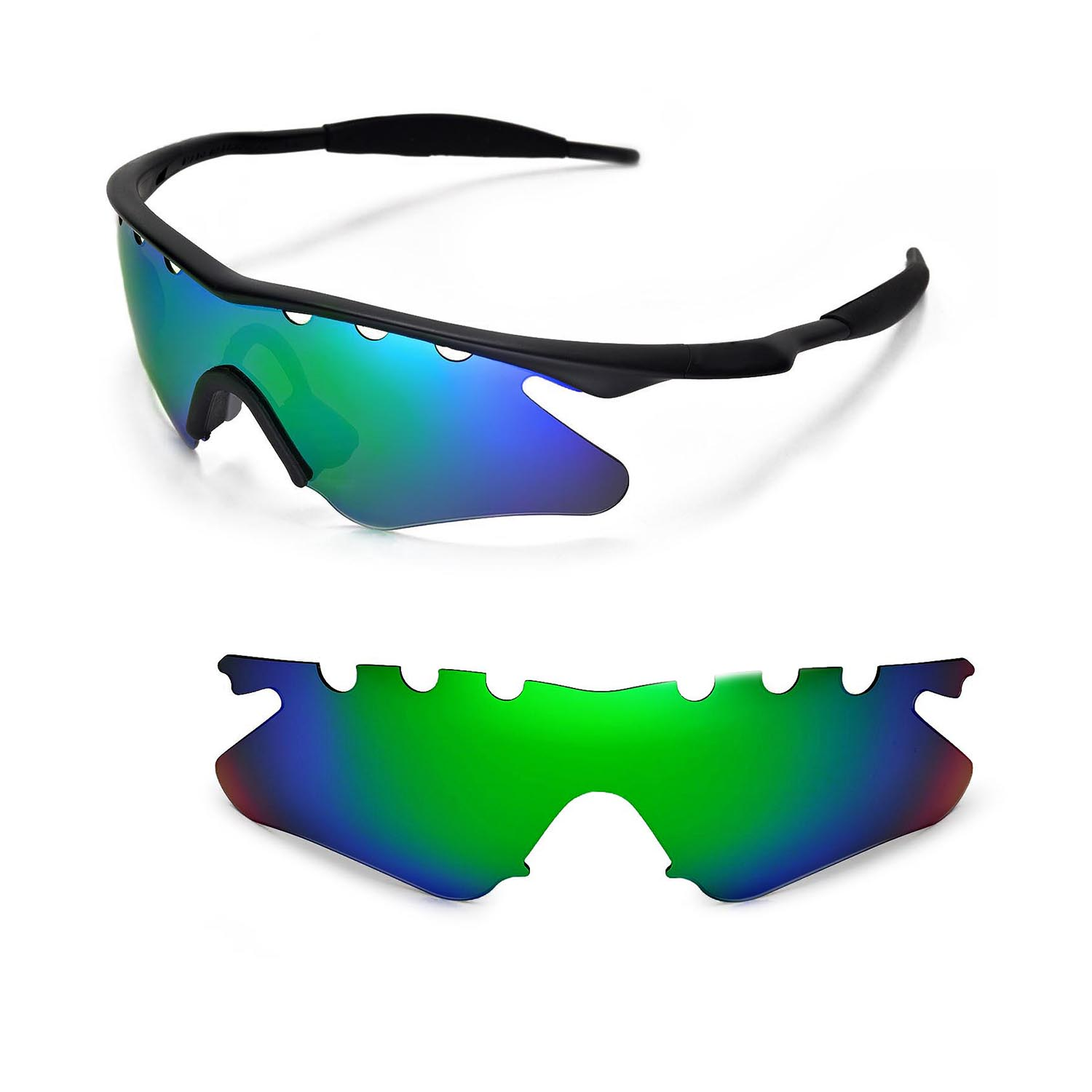 Walleva Clear Vented Replacement Lenses For Oakley M Frame Heater ...