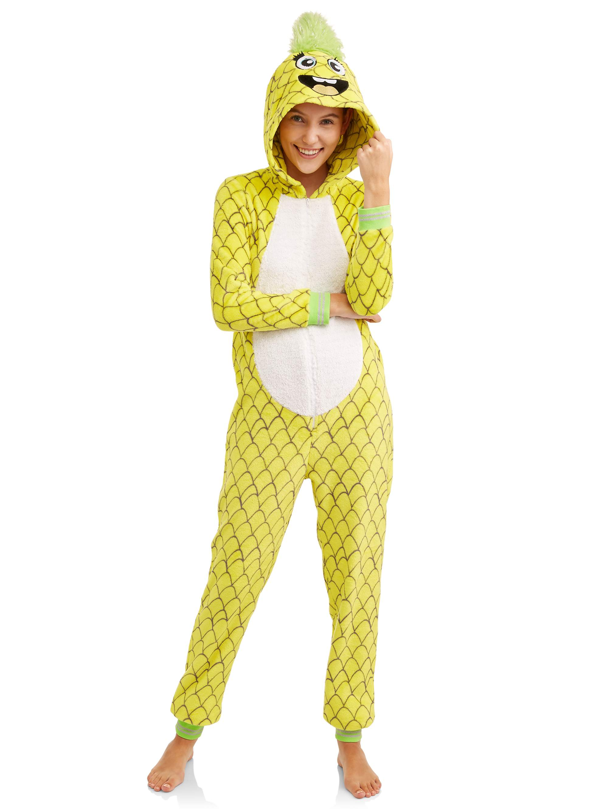 Secret Treasures Jammers Women's and Women's Plus Pineapple Union Suit