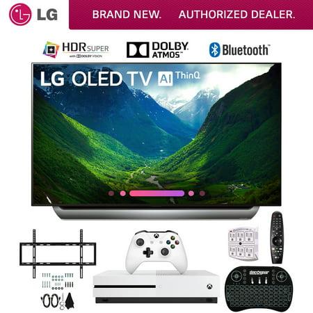 LG OLED55C8PUA 55 C8 OLED 4K Ultra HD AI TV with Xbox One S 1TB and Wall Bracket Bundle