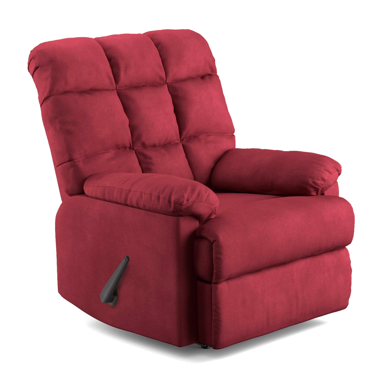 Mainstays Baja Wall Hugger Microfiber Biscuit back Recliner Chair, Multiple  Colors