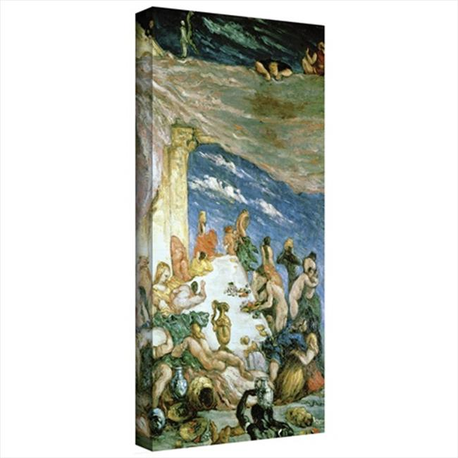 Artwal The Orgy Gallery-Wrapped Canvas Artwork by Paul Cezanne, 12 x 24 Inch